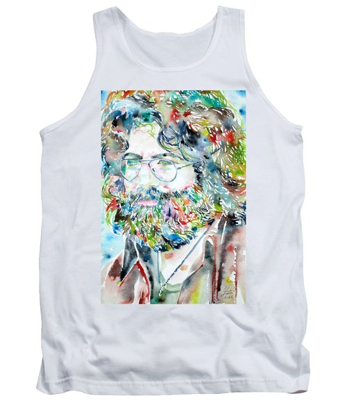 Jerry Garcia Watercolor Portrait.2 Tank Top