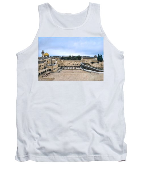 Tank Top featuring the photograph Jerusalem The Western Wall by Ron Shoshani