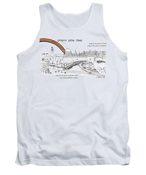 Jerusalem With Rainbow Tank Top