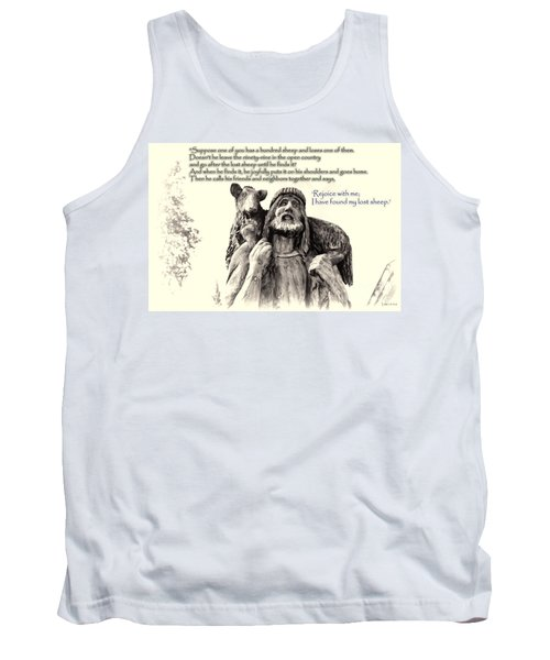 Jesus And Lamb Tank Top