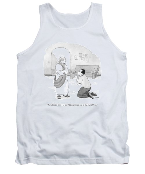 Jesus Speaks To A Pleading And Begging Man Tank Top