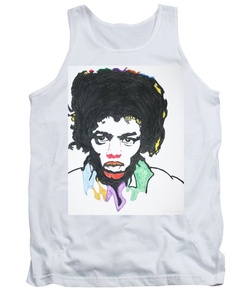 Tank Top featuring the painting Jimi Hendrix by Stormm Bradshaw