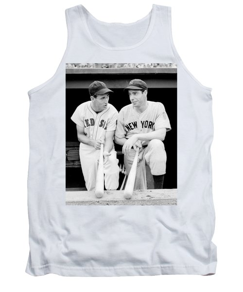 Joe Dimaggio And Ted Williams Tank Top by Gianfranco Weiss