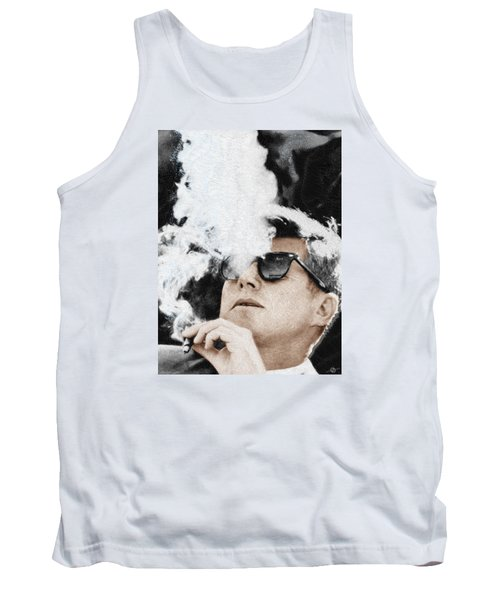 John F Kennedy Cigar And Sunglasses Tank Top