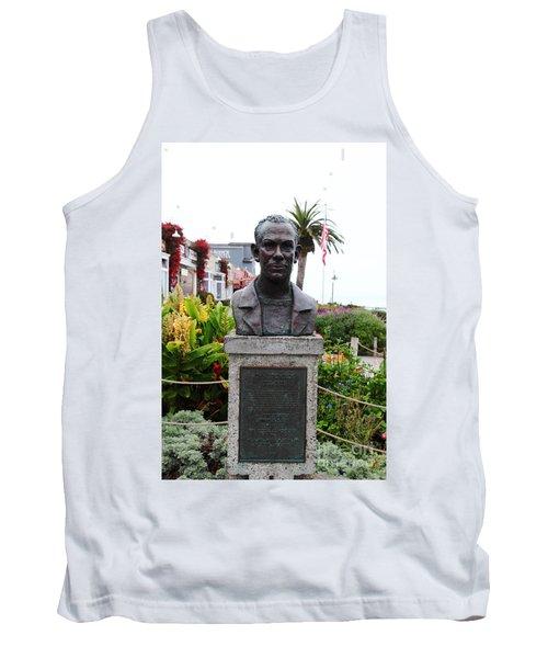 John Steinbeck Bust On Monterey Cannery Row California 5d24770 Tank Top