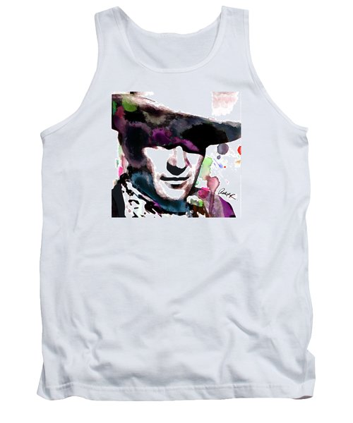 John Wayne Water Color Pop Art By Robert R Tank Top