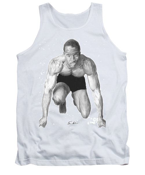 Tank Top featuring the drawing Johnson by Tamir Barkan