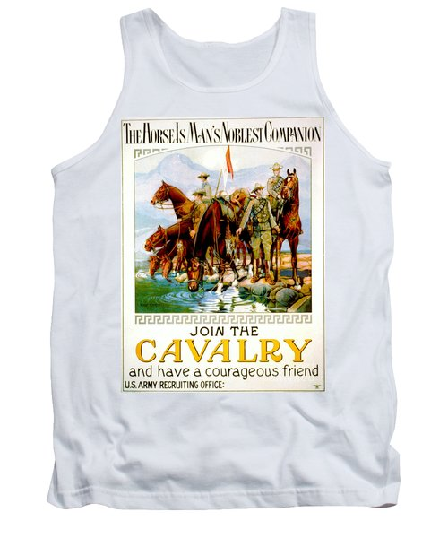 Join The Cavalry 1920 Tank Top by Padre Art
