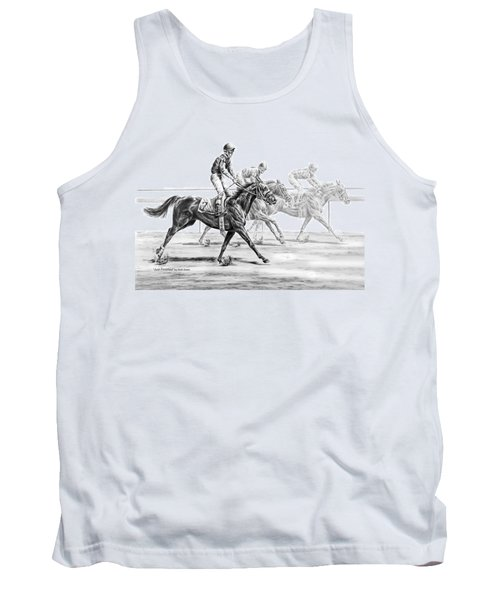 Just Finished - Horse Racing Print Tank Top