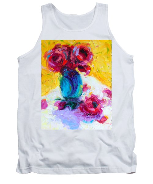 Just Past Bloom - Roses Still Life Tank Top