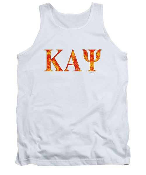 Tank Top featuring the digital art Kappa Alpha Psi - White by Stephen Younts