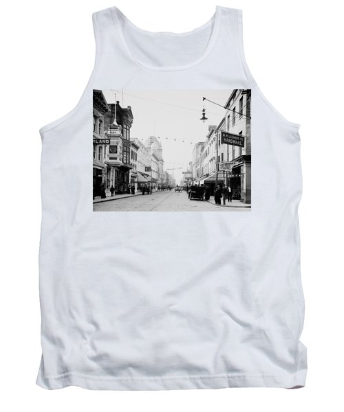 King Street In Charleston South Carolina Circa 1910 Tank Top