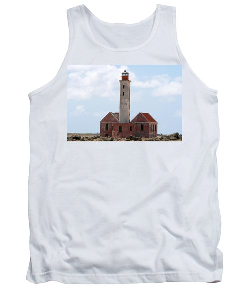 Tank Top featuring the photograph Klein Curacao Lighthouse by David Millenheft