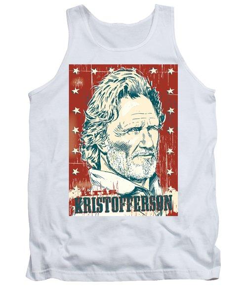 Kris Kristofferson Pop Art Tank Top by Jim Zahniser