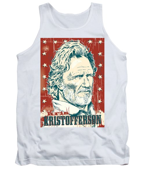 Kris Kristofferson Pop Art Tank Top