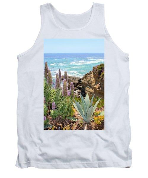 Laguna Coast With Flowers Tank Top