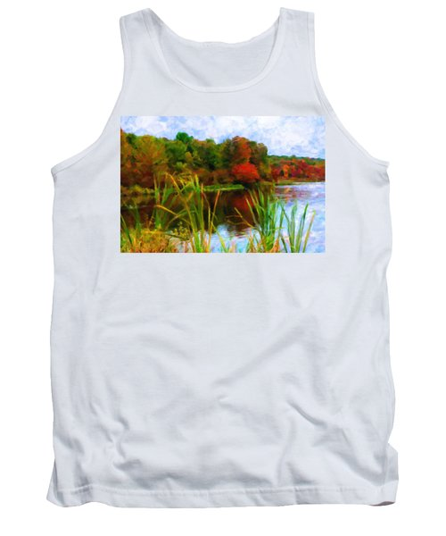 Lake In Early Fall Tank Top