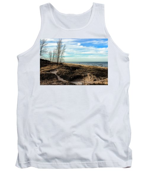 Tank Top featuring the photograph Lake Michigan Shoreline by Lauren Radke