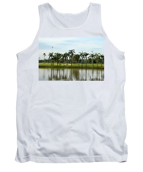 Lake Sand Traps Palm Trees And Golf Course Singapore Tank Top