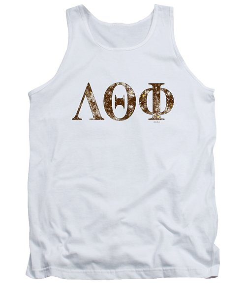Tank Top featuring the digital art Lambda Theta Phi - White by Stephen Younts