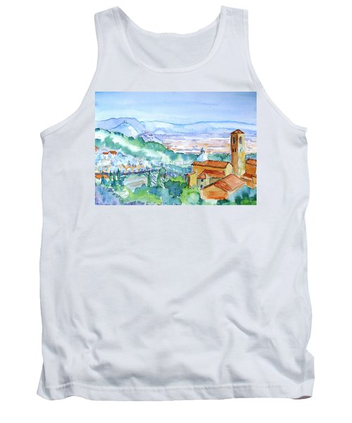 Tuscany Valley  Medieval Village Of Massa Tank Top by Trudi Doyle