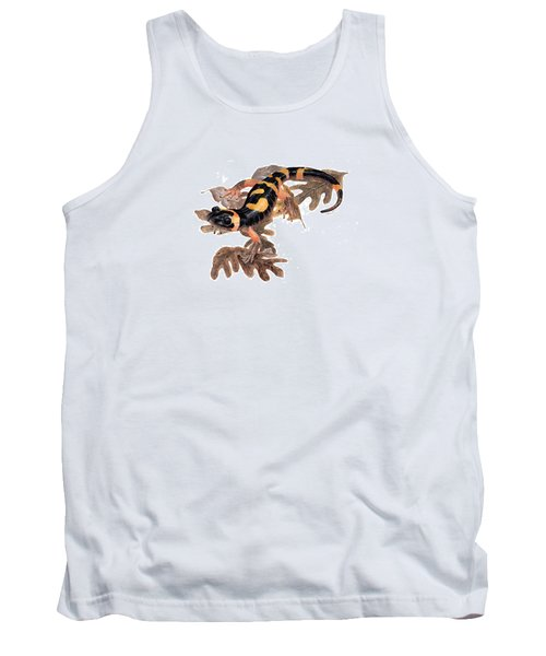 Large Blotched Salamander On Oak Leaves Tank Top