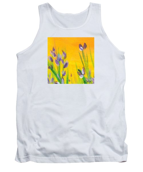 Lavender - Hanging Position 1 Tank Top by Val Miller