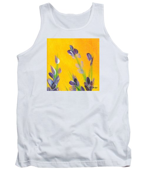 Lavender - Hanging Position 2 Tank Top by Val Miller