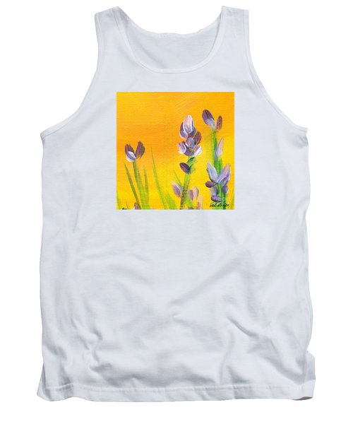 Tank Top featuring the painting Lavender - Hanging Position 3 by Val Miller