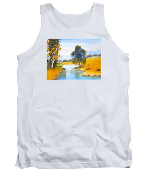 Tank Top featuring the painting Lawson River by Pamela  Meredith