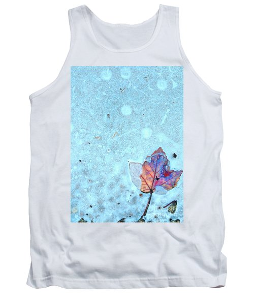 Leaf In Ice Tank Top by Todd Breitling
