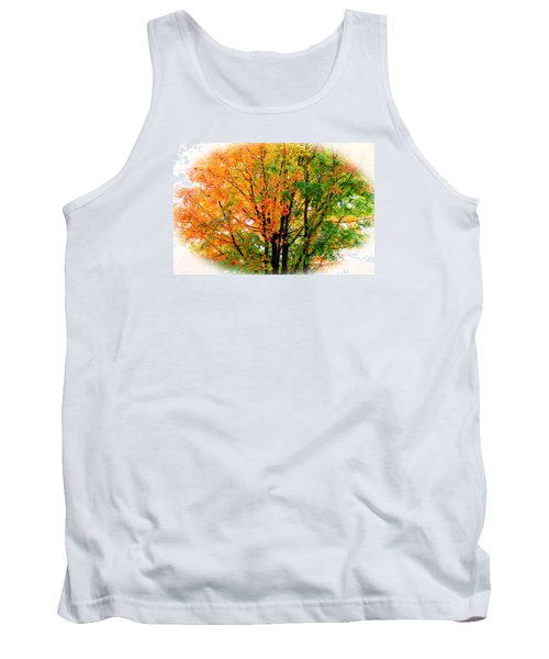 Leaves Changing Colors Tank Top by Cynthia Guinn