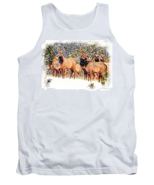 Let It Snow - Barbara Chichester Tank Top by Barbara Chichester