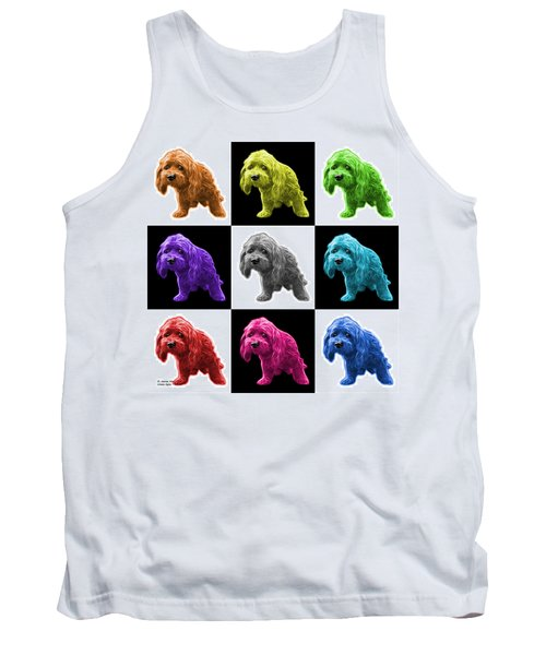 Lhasa Apso Pop Art - 5331 - V2- M Tank Top