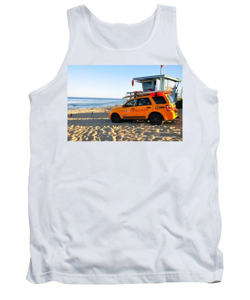 Tank Top featuring the digital art Life Guard  by Gandz Photography