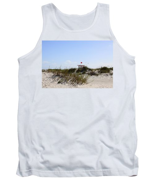 Tank Top featuring the photograph Lifeguard Station by Chris Thomas