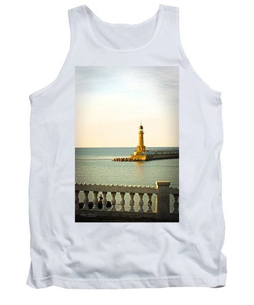 Lighthouse - Alexandria Egypt Tank Top by Mary Machare