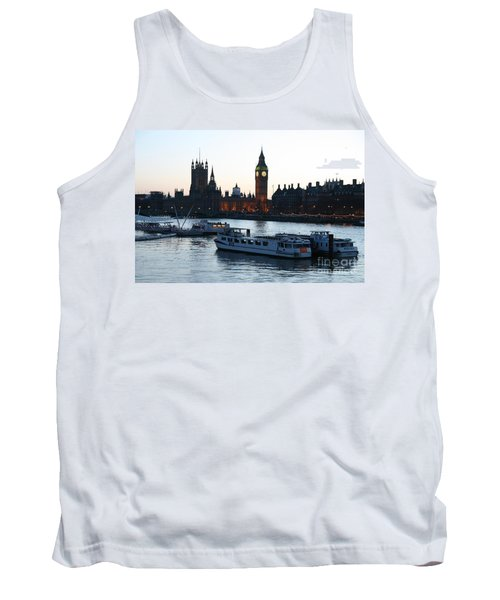 Lighting Up Time On The Thames Tank Top
