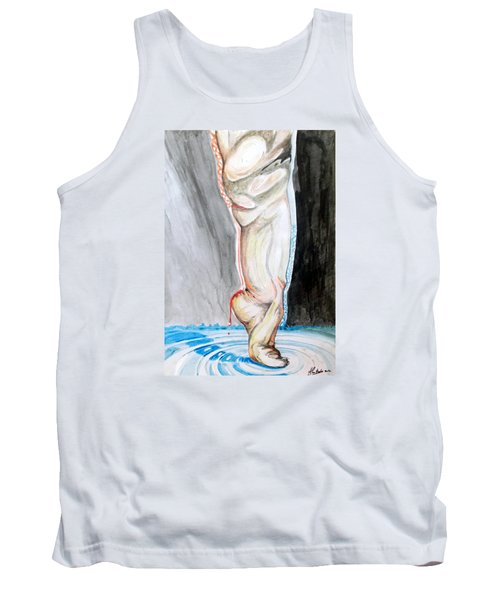 Tank Top featuring the painting Lightweight Of The Being Listen With Music Of The Description Box by Lazaro Hurtado