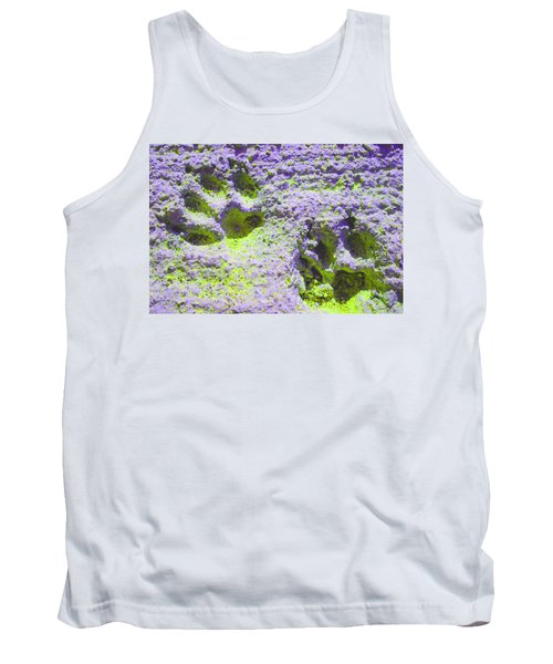Lilac And Green Pawprints Tank Top