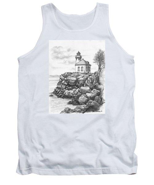 Lime Kiln Lighthouse Tank Top by Kim Lockman