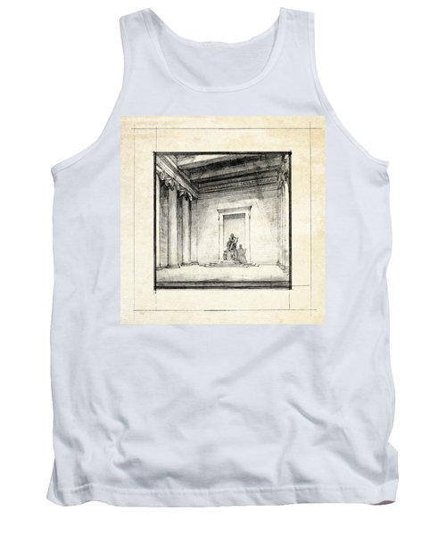 Lincoln Memorial Sketch IIi Tank Top by Gary Bodnar