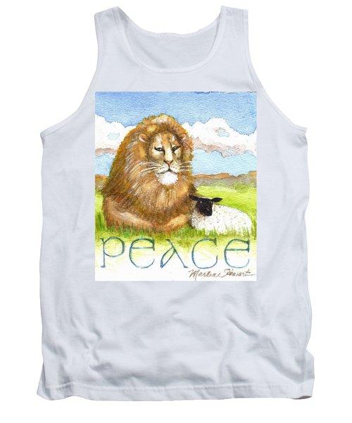 Lion And Lamb - Peace  Tank Top