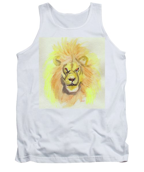 Lion Yellow Tank Top by First Star Art