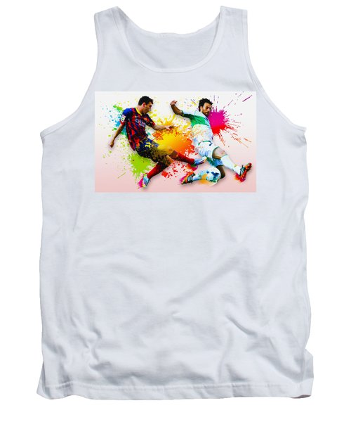 Lionel Messi Of Fc Barcelona Tank Top