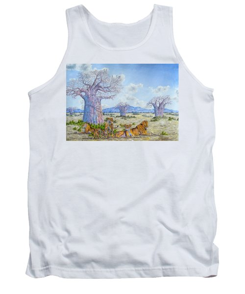 Lions By The Baobab Tank Top