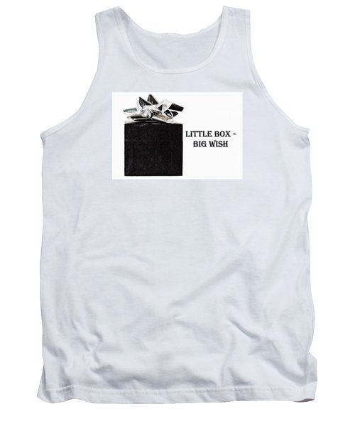Tank Top featuring the photograph Black Present With A Silver Bow by Vizual Studio