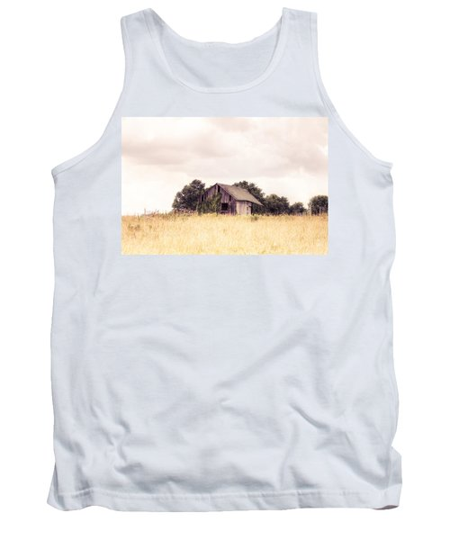 Tank Top featuring the photograph Little Old Barn In A Field - Landscape  by Gary Heller
