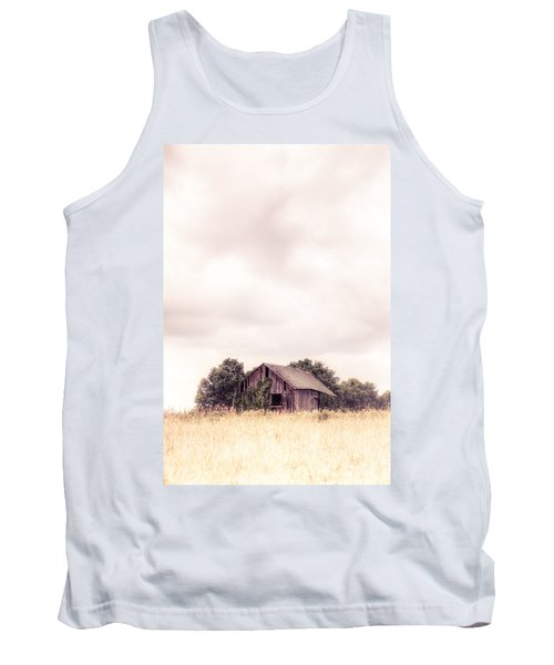 Tank Top featuring the photograph Little Old Barn In The Field - Ontario County New York State by Gary Heller