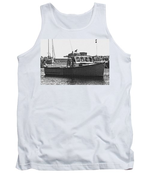Lobster Boat Tank Top by Fred Larson